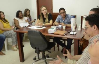 Carolina Fontalvo Abuchar, secretaria de Educación de Sincelejo, en el encuentro con rectores de colegios.
