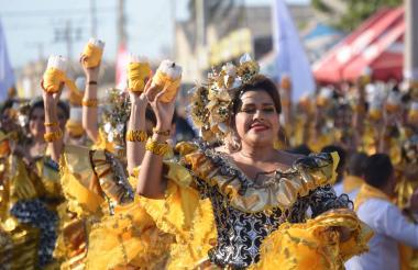 El baile de la cumbia es uno de los más tradicionales del Carnaval.