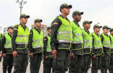 Policías en formación. Imagen de referencia.