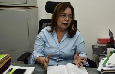 Aida Ojeda, secretaria de Educación de Soledad.