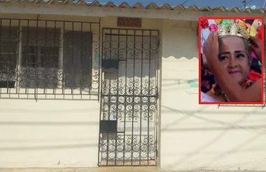 En esa vivienda del barrio Salamanca fue hallada sin vida María Victoria Obregón (recuadro).