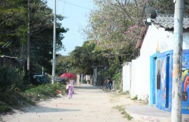 Sector de La Bonga donde fue asesinado el joven.
