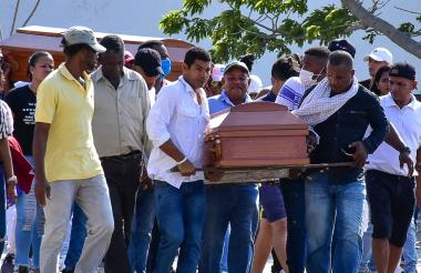 El cortejo fúnebre inició en el barrio Nueva Colombia.