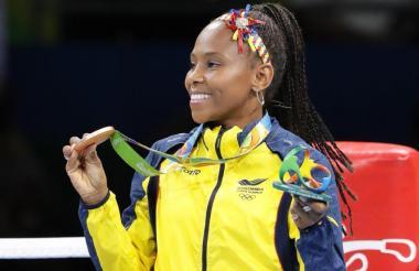 Íngrit Valencia, medalla de bronce en Río-2016.