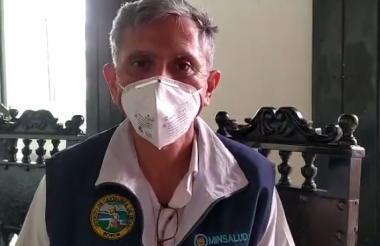 Álvaro Fortich, director del Dadis, informa sobre la tercera muerte por coronavirus.
