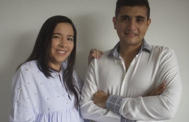 Andrea Rodríguez y Orlando González, creadores de la plataforma.