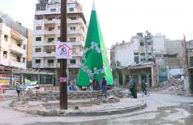 Homs, la ciudad devastada por los bombardeos