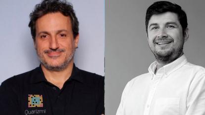 El estadounidense Enrique Aguilera y Rodrigo Cortés, conferencista colombiano, respectivamente.