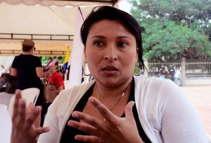Sandra Torres Franco contó su experiencia como víctima, en el Centro de Servicios Judiciales.