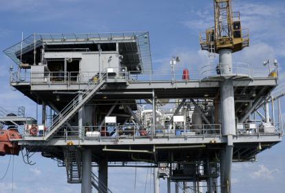 Plataforma de hidrocarburos ubicada en el mar Caribe, frente a La Guajira.