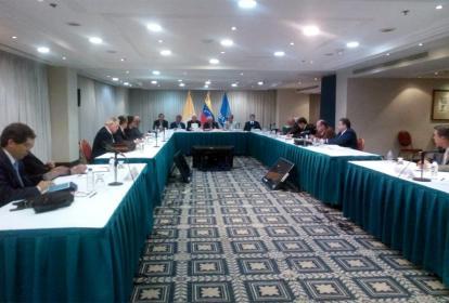 Imagen de la última conversación entre el Gobierno venezolano y la Mesa de la Unidad Democrática.