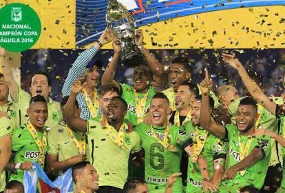 Nacional, campeón de la Copa Águila 2016.