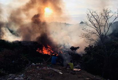 Incendio Henequén en Cartagena.
