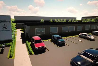 'Render' de la sede de Logística y Transporte que estará ubicada en Ciudad Verde.