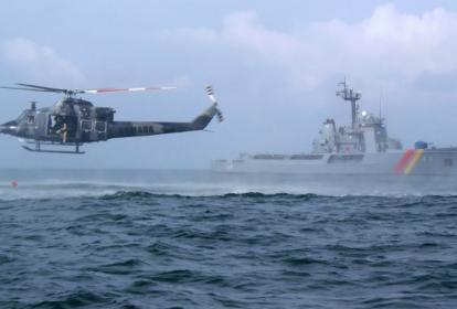 La Armada durante las labores de búsqueda.