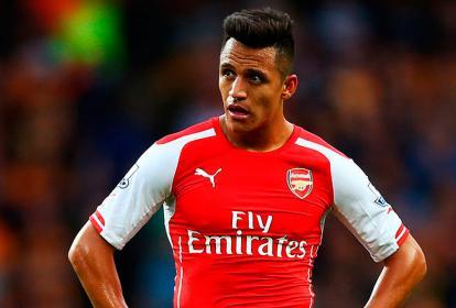 El delantero del Arsenal, Alexis Sánchez.