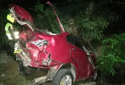 Así quedó el vehículo tras la colisión.