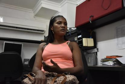 Carmen Cecilia Beltrán, en diálogo con periodistas de EL HERALDO en Cartagena.