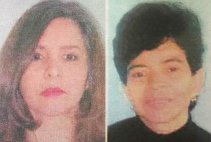 Mercedes Victoria (i) y Gloria Amparo Leal Valetta (d).