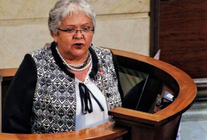 Imelda Daza, representante de Voces de Paz.