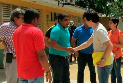 Magistrados auxiliares fueron recibidos ayer en Nazaret por el director del hospital Wilder Curvelo.