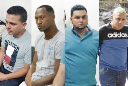 De izquierda a derecha: Arturo Andrade R., alias Churria; Lácides Iriarte Herrera, 'el Mama'; Luis García Rangel, alias Cheo; Juan Flórez Méndez, alias Juanchi.