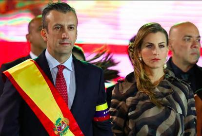 Tarek El Aissami con su esposa Rudy Aamer.