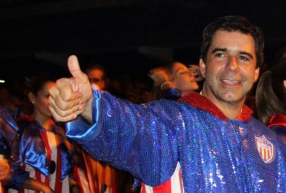 El alcalde Char durante el desfile de la Guacherna.