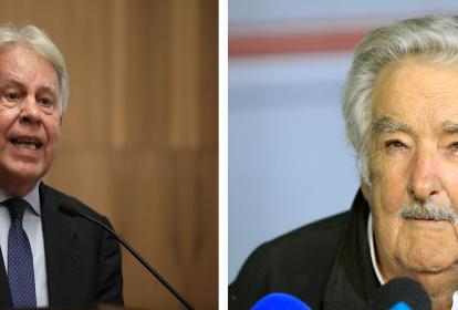 Felipe González y Pepe Mujica.