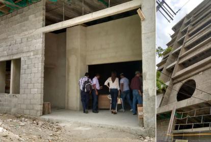 Reunión privada en el edificio en construcción de la Esap.