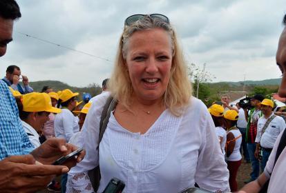 Marie Andersson, embajadora de Suecia en Colombia.
