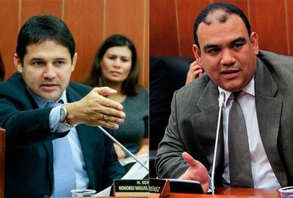Senadores Honorio Henríquez y Antonio José Correa.