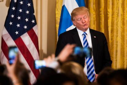 El presidente estadounidense Donald Trump durante las celebración del Día de la Independencia griega en la Casa Blanca en Washington.