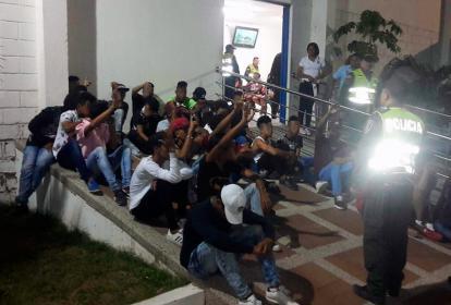 Jóvenes conducidos a la URI por la Policía
