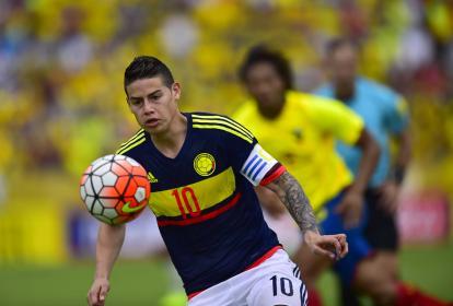 James se lució en Quito.
