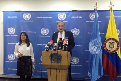 Jean Arnault, jefe de misión de la ONU en Colombia.