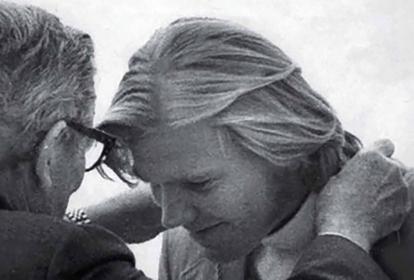 Helmut Bellingrodt recibe la presea en Múnich 1972.