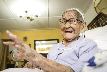 Con 113 años, María Teresa Rico Martínez, es oriunda del Carmen de Bolívar. Es una de las mujeres más longevas del mundo.