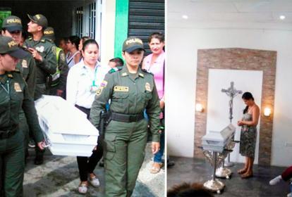 Este lunes fueron las honras fúnebres de la niña Sara Yolima Salazar, muerta el fin de semana en Tolima.