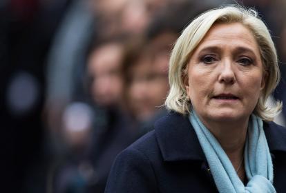 Marine Le Pen, candidata presidencial de Francia.
