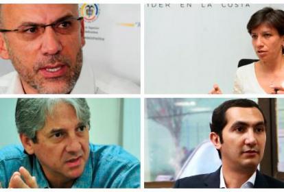 Roy Barrera, Claudia López, Jaime Amín y David Barguil.