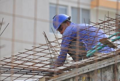 Trabajador del sector de la construcción en Barranquiilla.