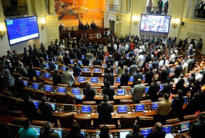 Panorama de la sesión conjunta del Congreso durante el Día Nacional de Víctimas.