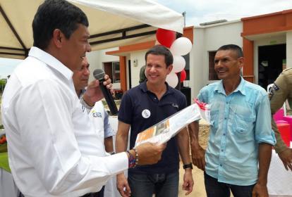 Henry Alí Montes, alcalde de Aguachica, durante un evento en el municipio.