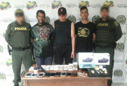 Jorge Luis Blanco Dávila, Reinaldo Buendía Buendía y Hernán Darío Rueda Bustillos