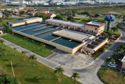 Sede del acueducto de Barranquilla, operado por la empresa Triple A, la cual es una de la firmas de Inassa.