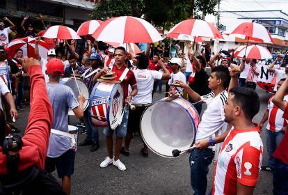 Hinchas de Junior de Barranquilla.