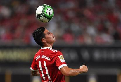 James Rodríguez viene sumando minutos con Bayern.