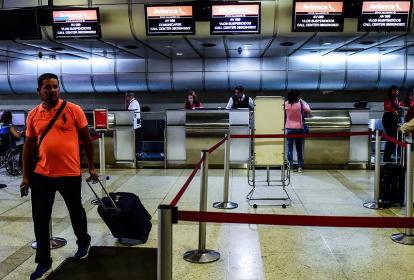 Así permanece el área de Avianca en el aeropuerto de Maiquetía.