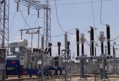 Subestación de Electricaribe en Atlántico.